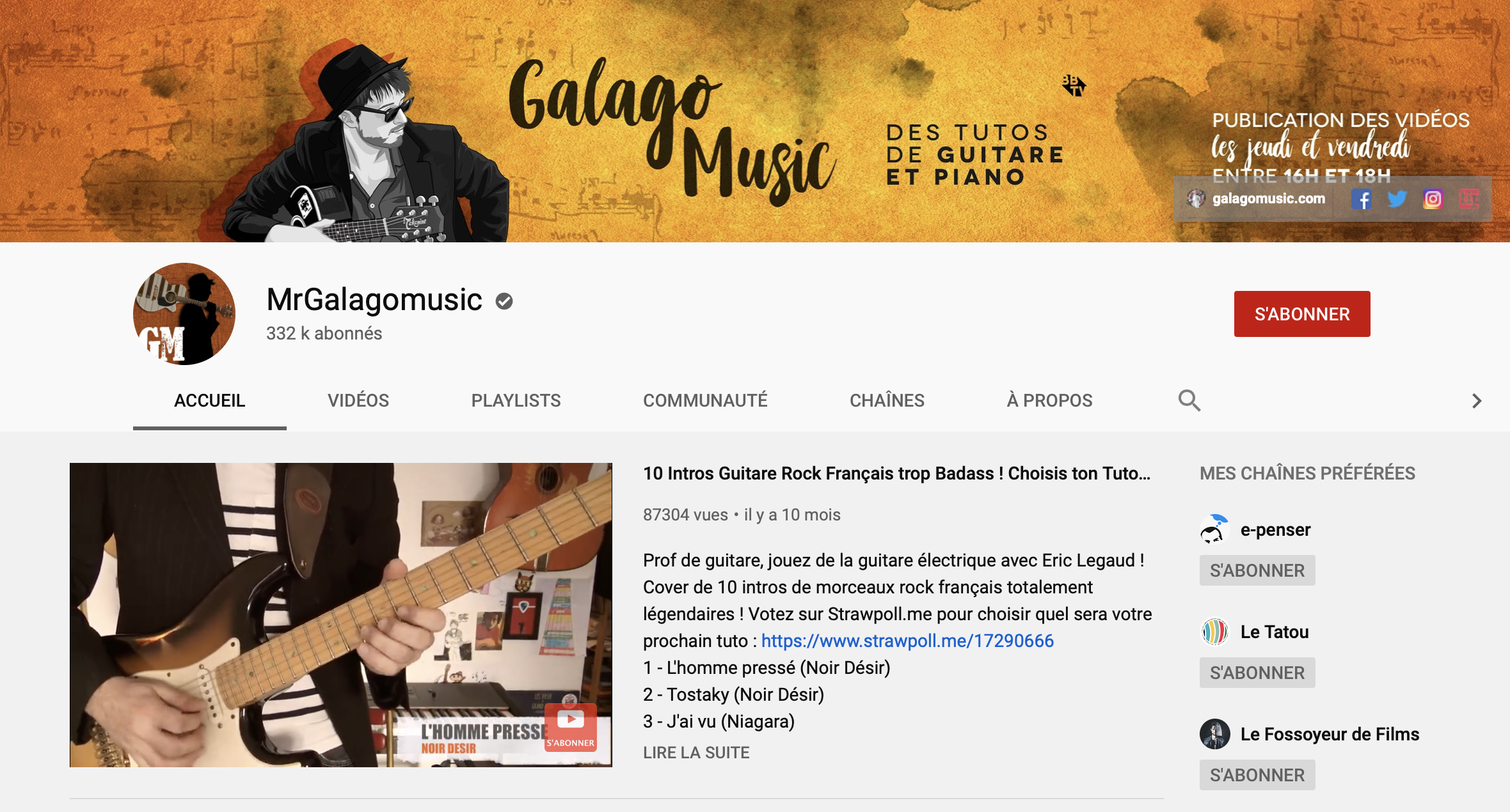 5 chaînes youtube guitare