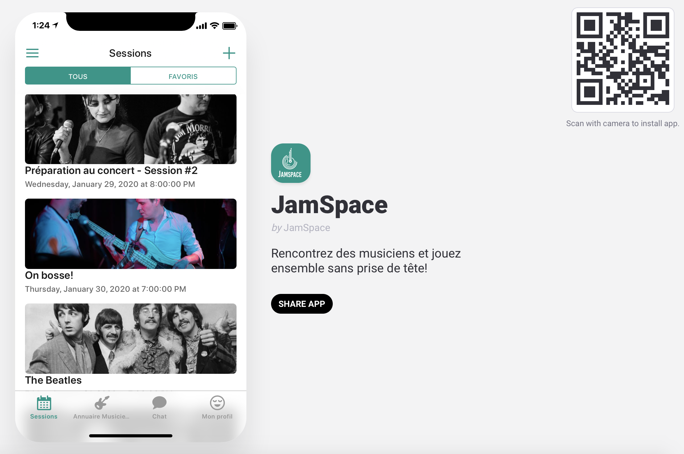 Application JamSpace