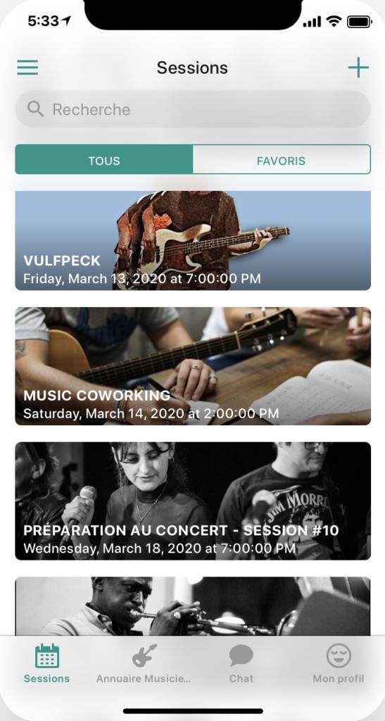 Screenshot apple JamSpace