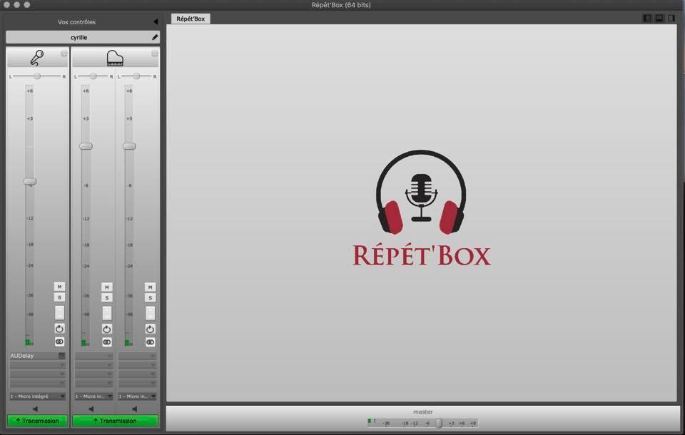 L'interface Répét'Box pour répéter à distance