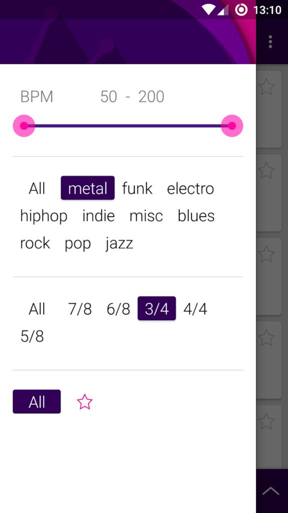 Une application pour et développer sa pratique musicale avec des boucles de batterie : Loopz