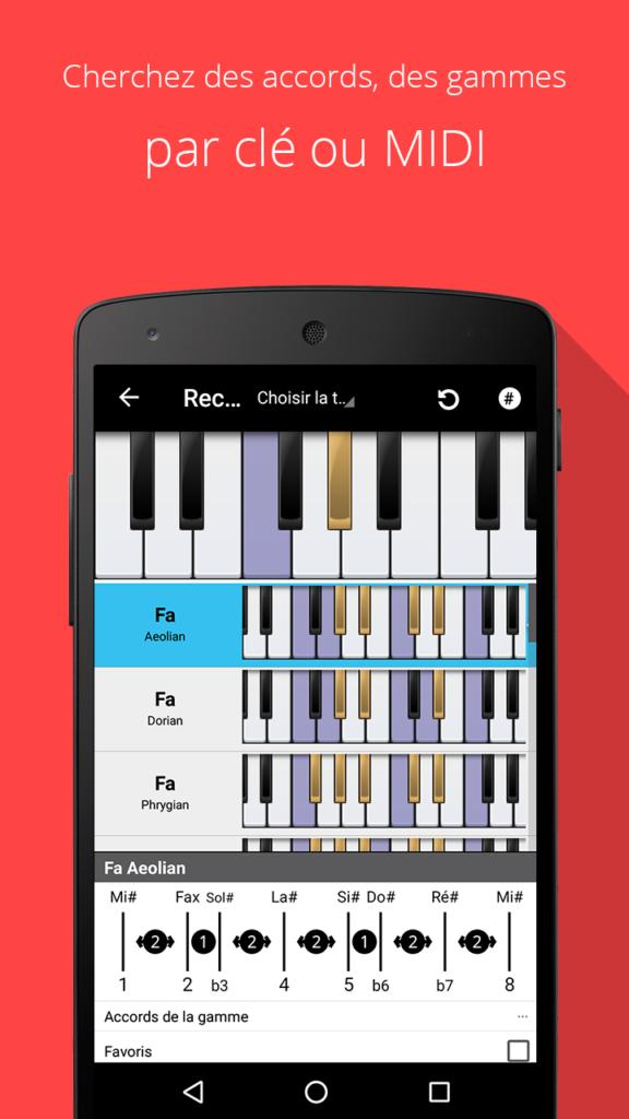 Une application pour enrichir ses accords : Piano Companion